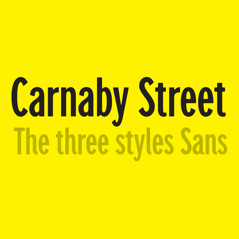 Carnaby Street, a new typeface designed by Simon Walker. Available on www.typeverything.com