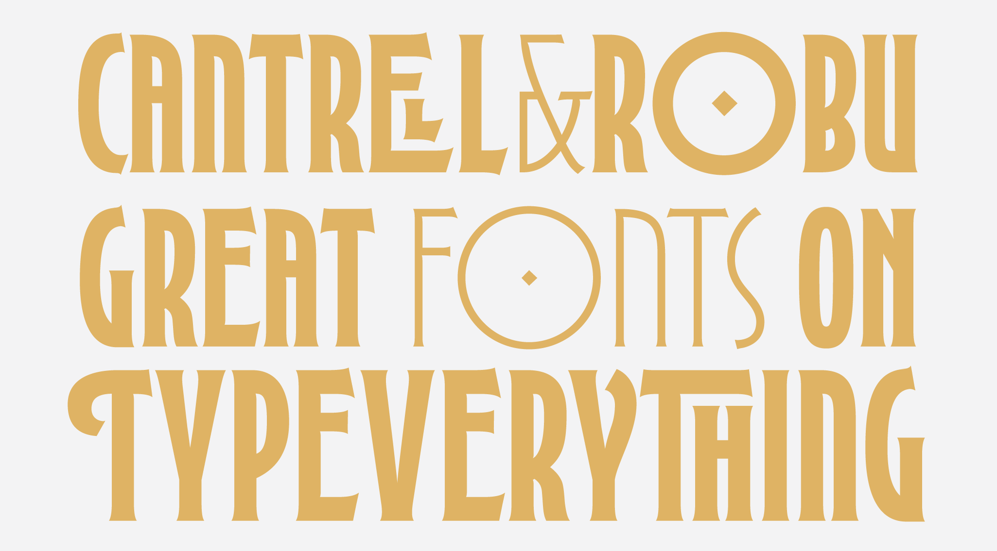 Fitzroy Display, a new typeface designed by Kevin Cantrell. Available on www.typeverything.com