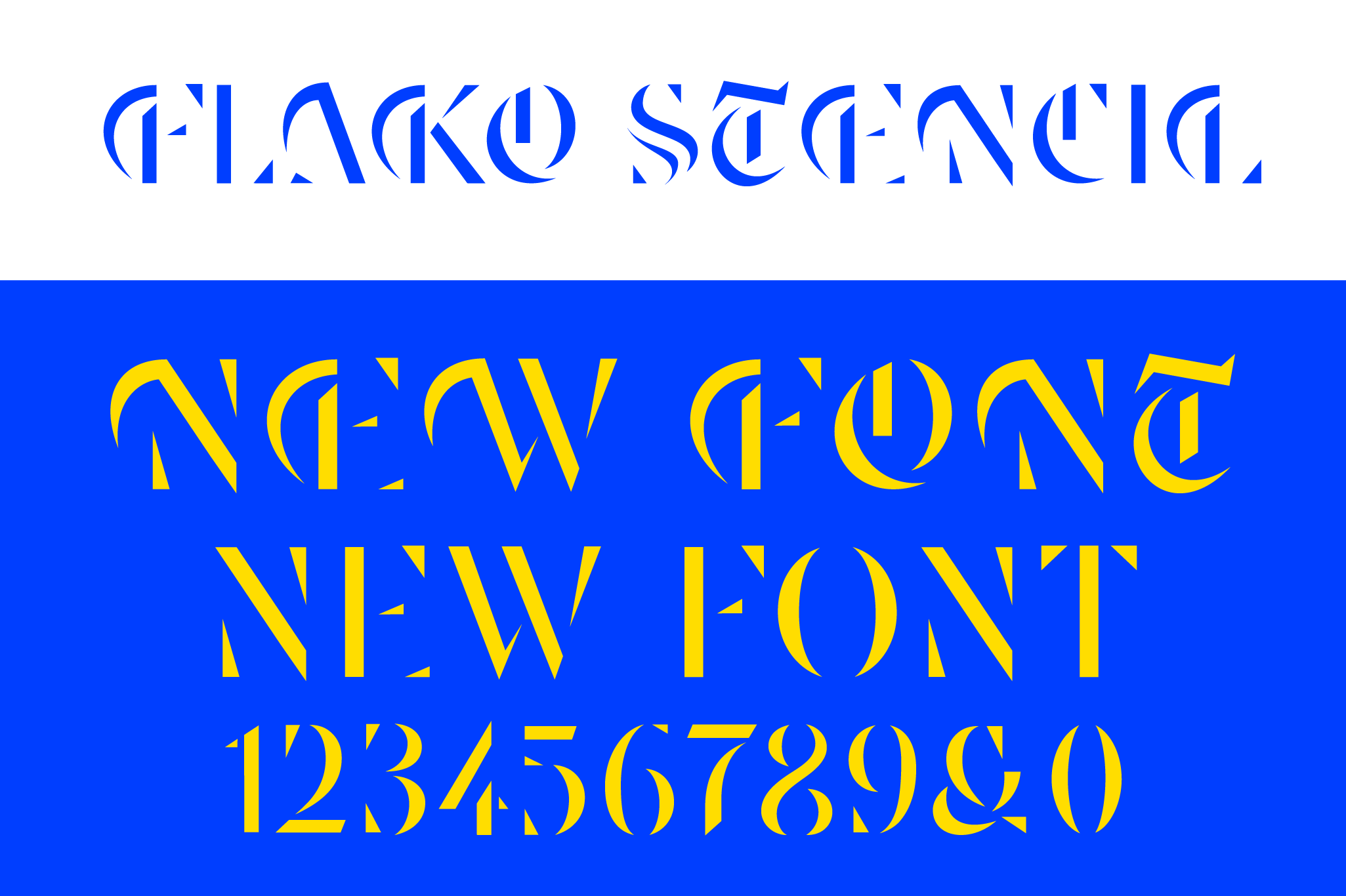 Flako stencil blackletter, a new typeface designed by Andrei Robu. Available on www.typeverything.com