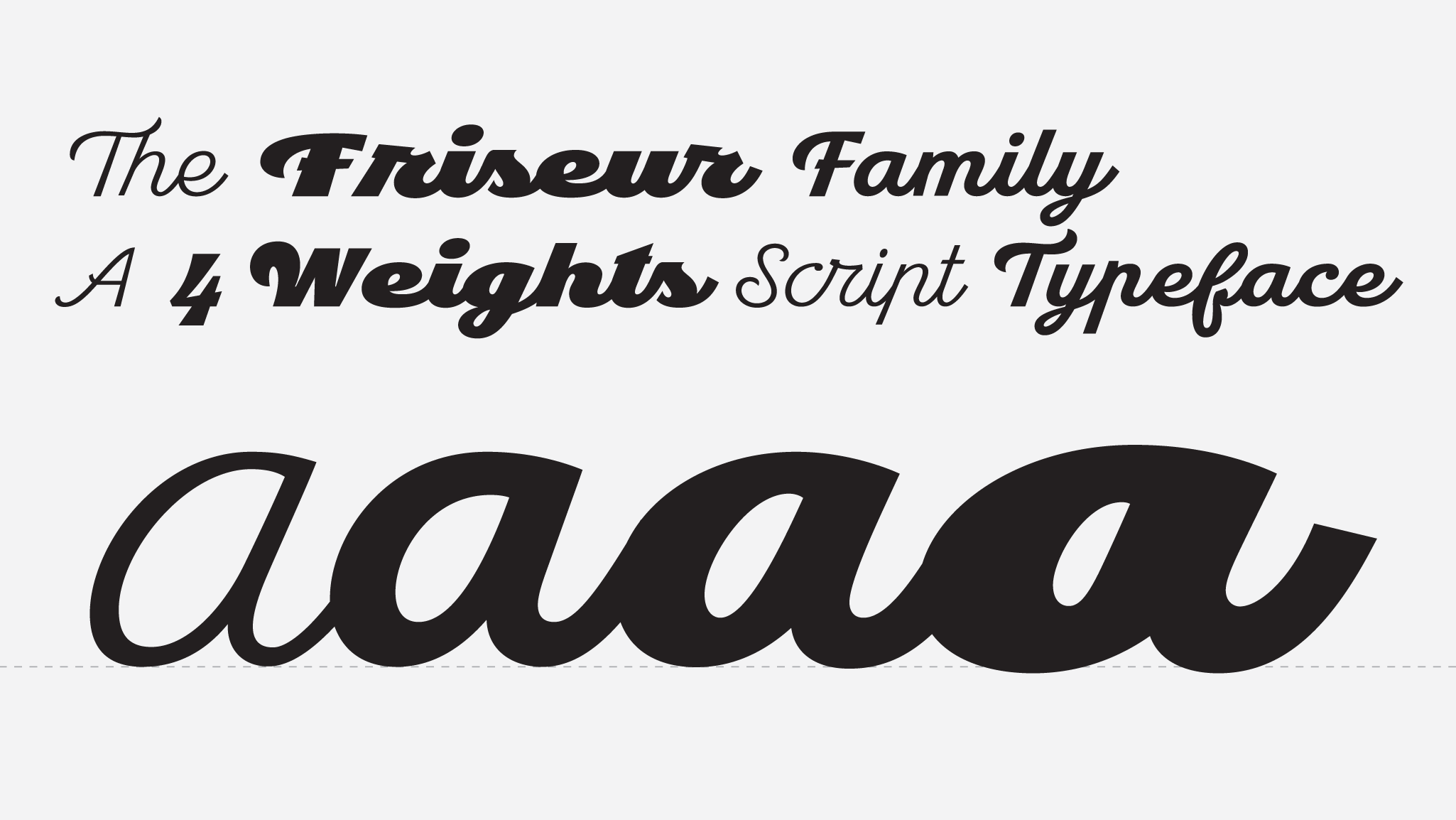 Friseur, a new script typeface designed by Andrei Robu. Available on www.typeverything.com