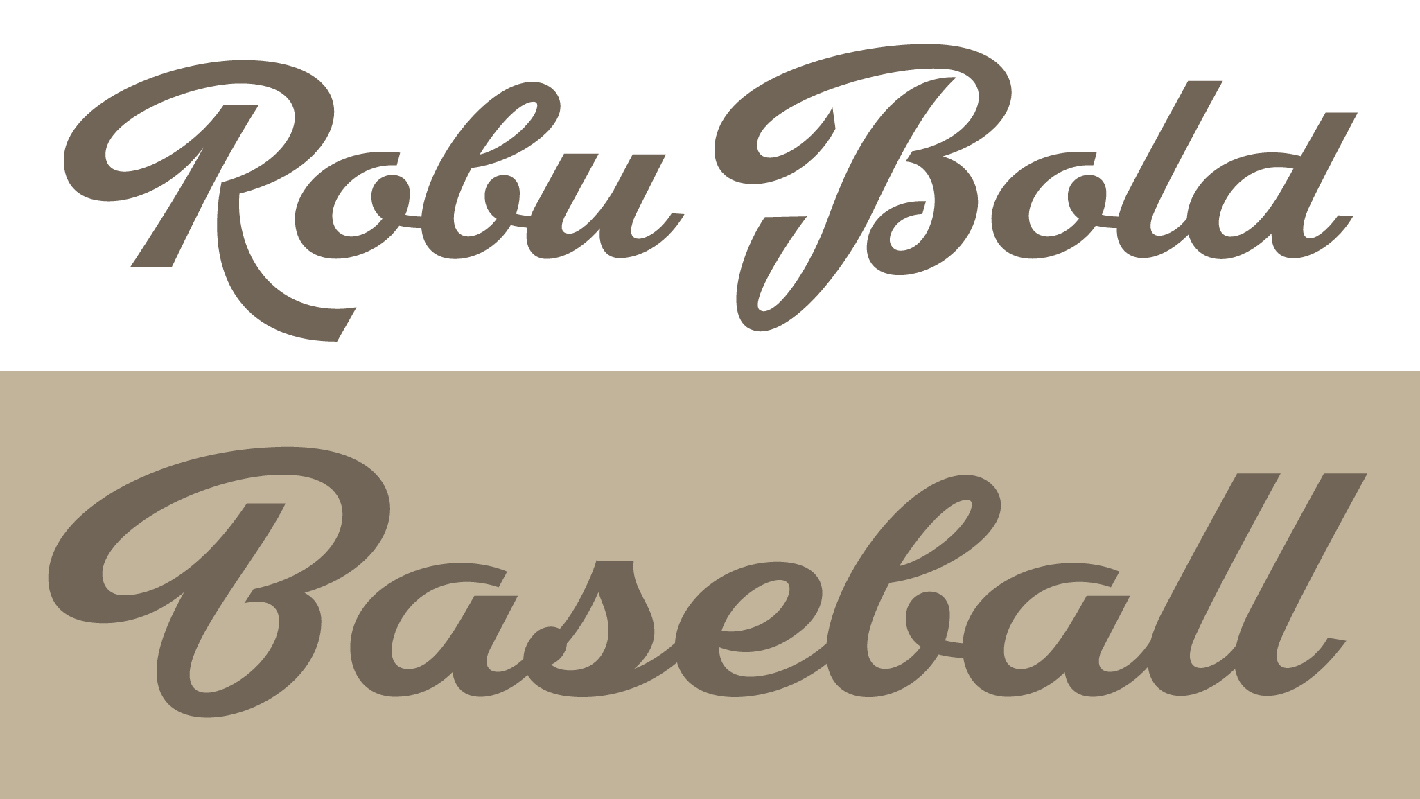 Robu Bold, a new script typeface designed by Andrei Robu. Available on www.typeverything.com