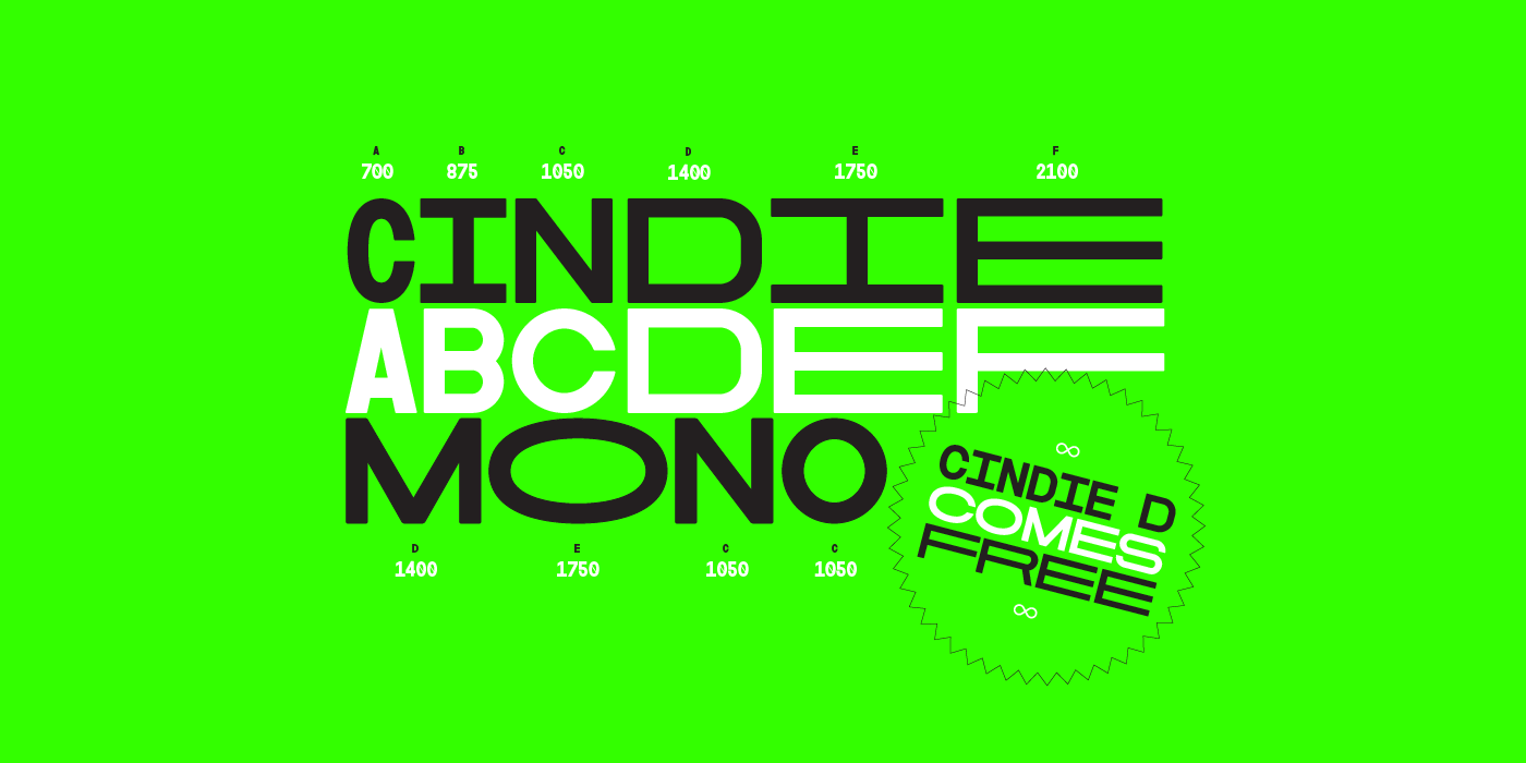 Buy Cindie font family designed by Lewis McGuffie, now available from www.typeverything.com