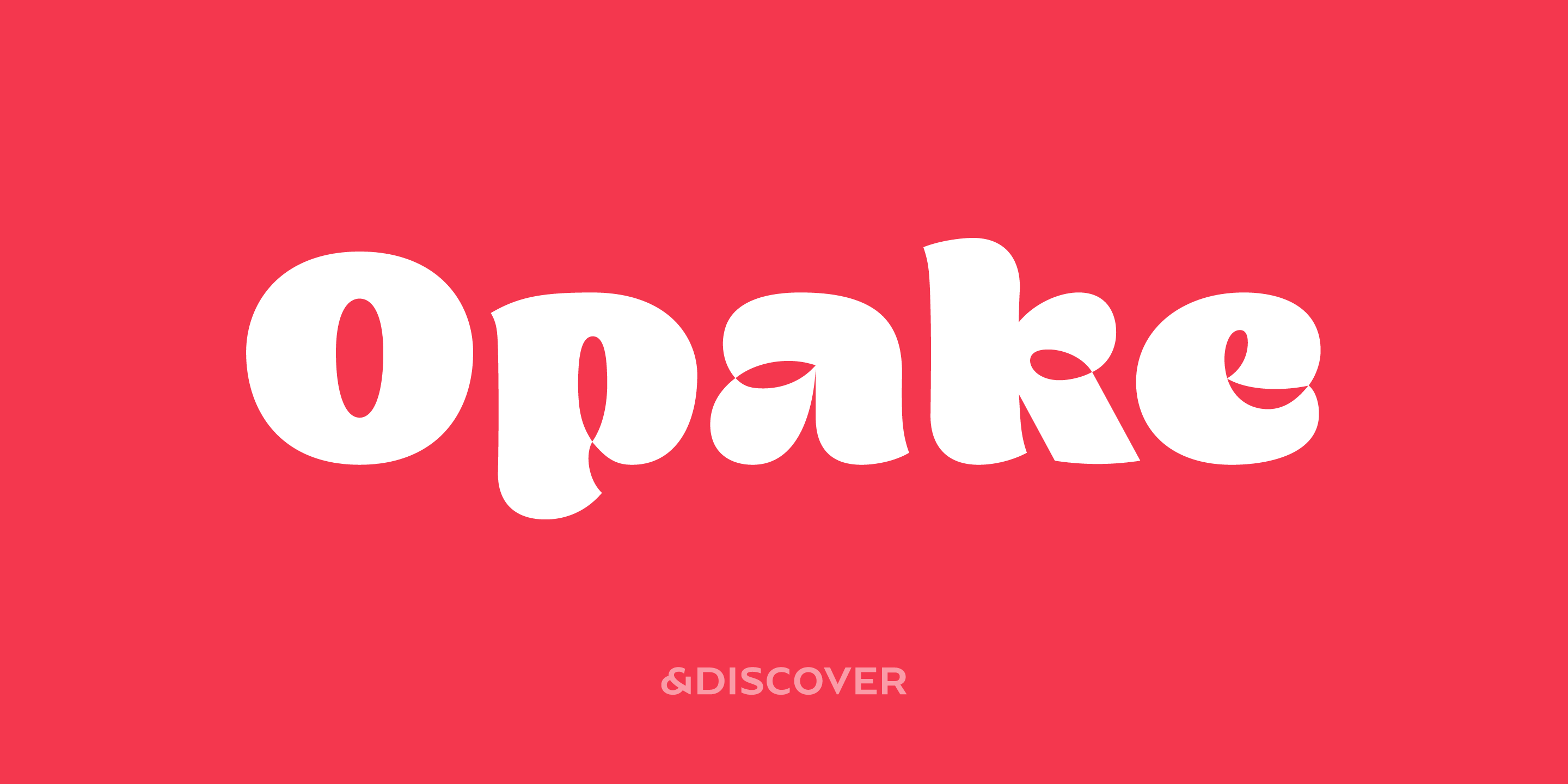 Opake, typeface designed by Natanael Gama from Ndiscover type for Typeverything.com
