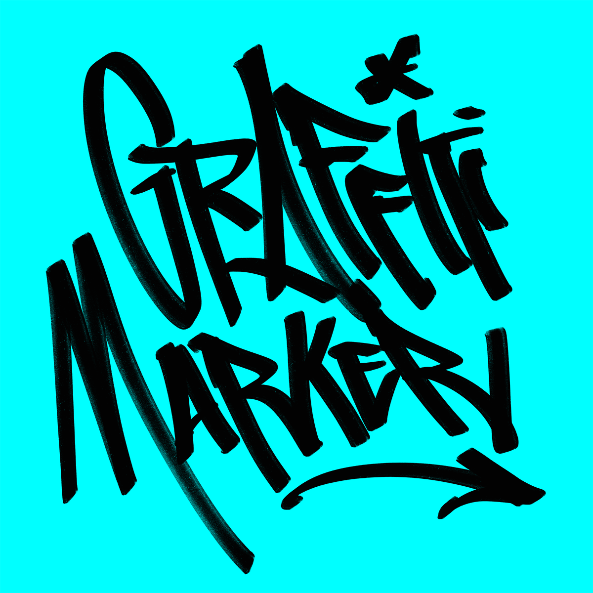 Graffiti Marker Procreate Brush by Typeverything.com