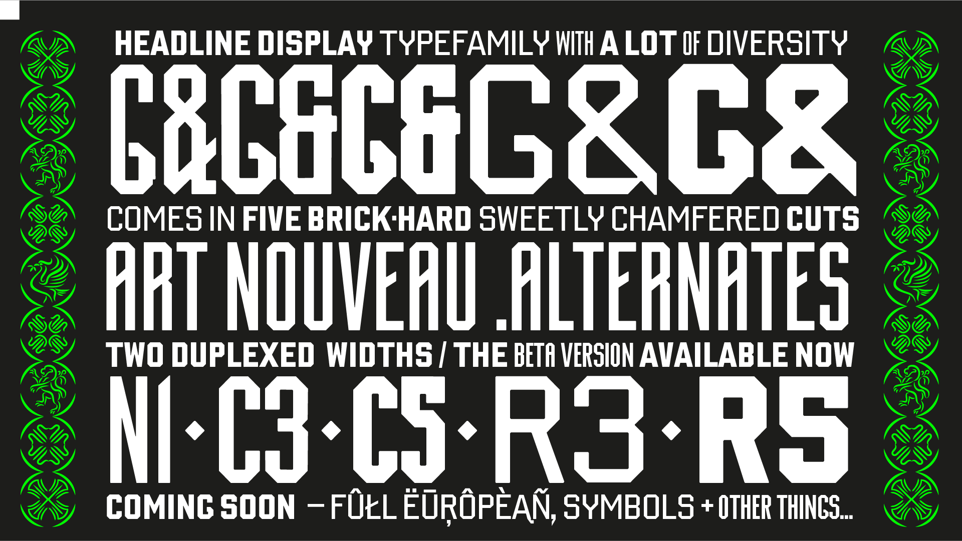 Cham font designed by Lewis McGuffie for typeverything.com