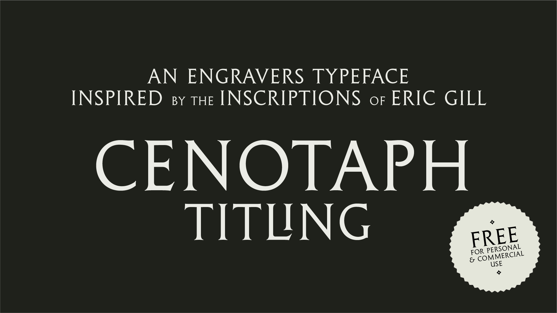 Cenotaph designed by Lewis McGuffie for typeverything.com