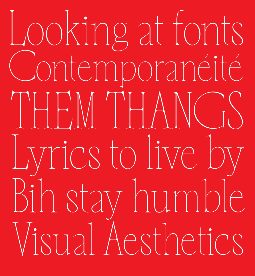Nero Alto, a new typeface designed by Mateo Broillet available from Typeverything.com