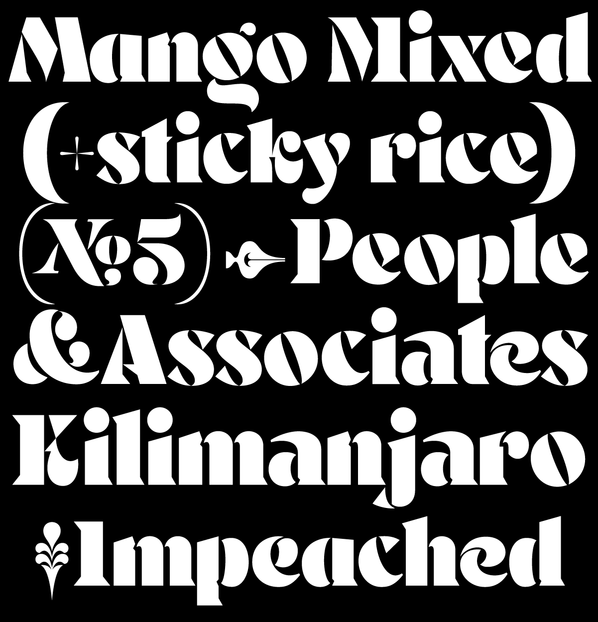 Mr Banks, a new display typeface designed by Andrei Robu for Typeverything.com