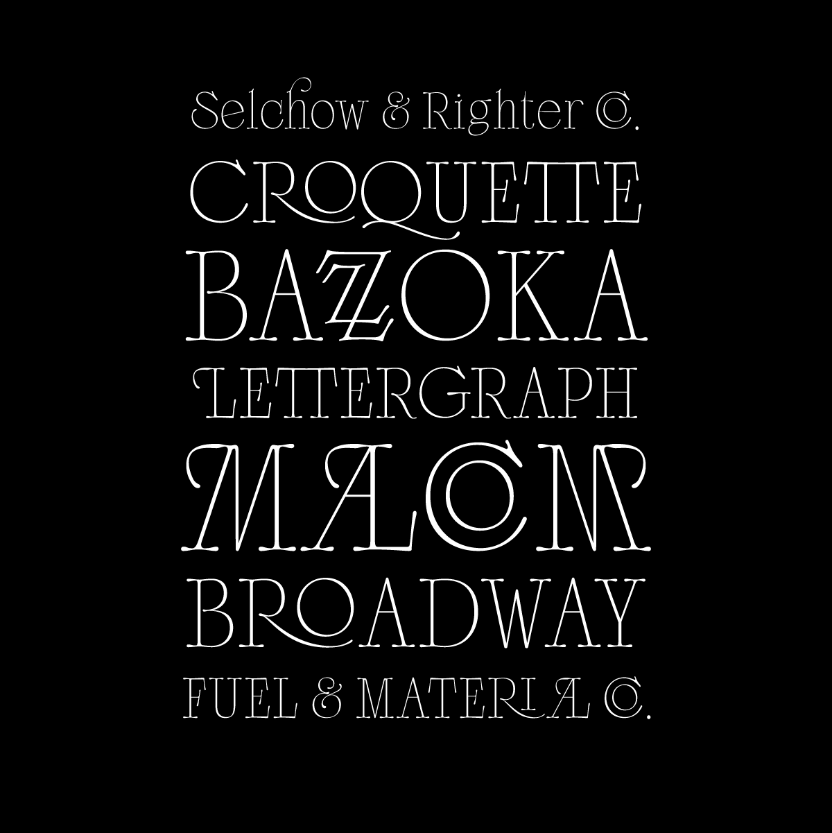 Scottsdale, a new serif typeface designed by Adam Fathony for Typeverything.com