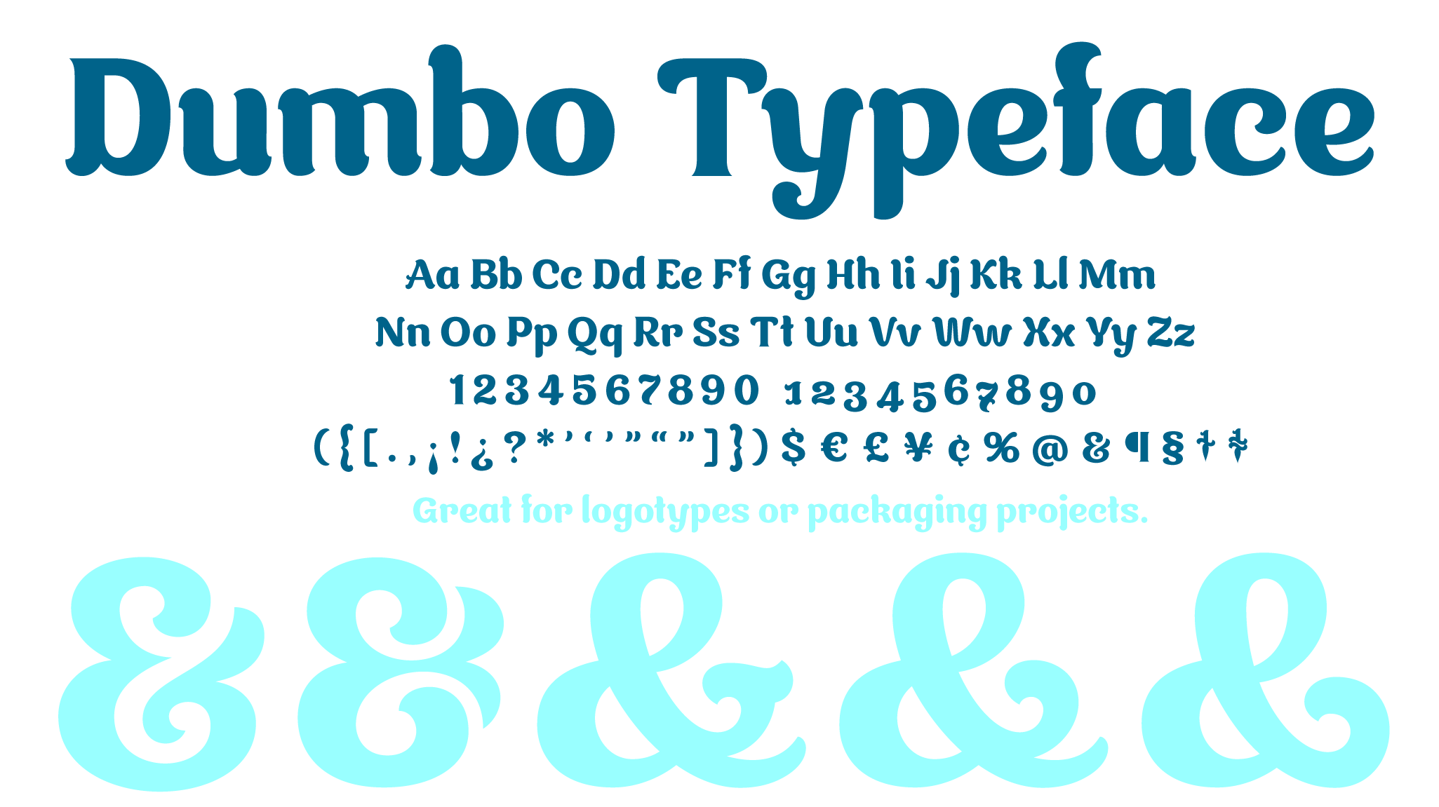 Dumbo is a new typeface designed by Andrei Robu. Available on www.typeverything.com