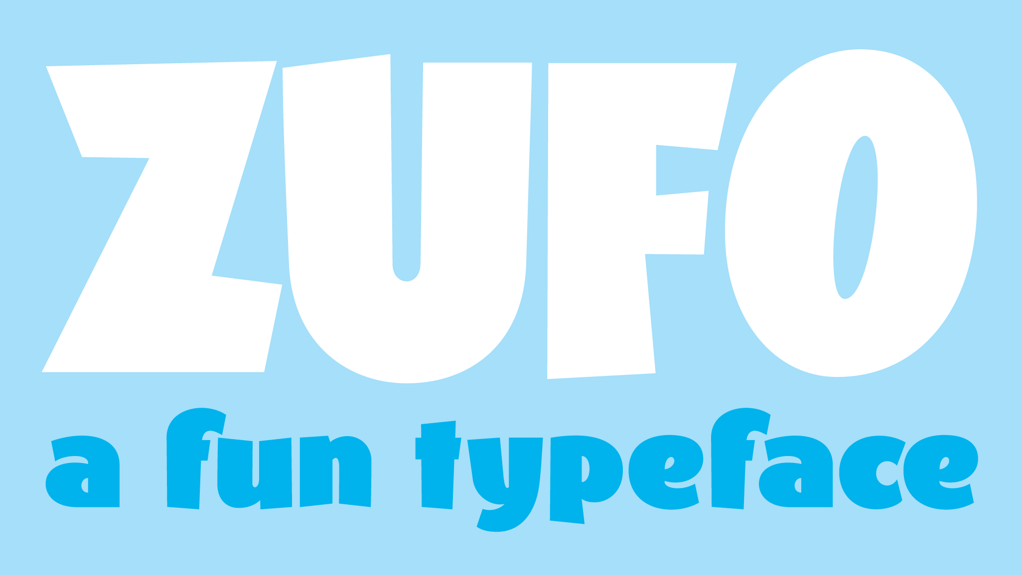 Zufo is a new typeface designed by Andrei Robu. Available on www.typeverything.com