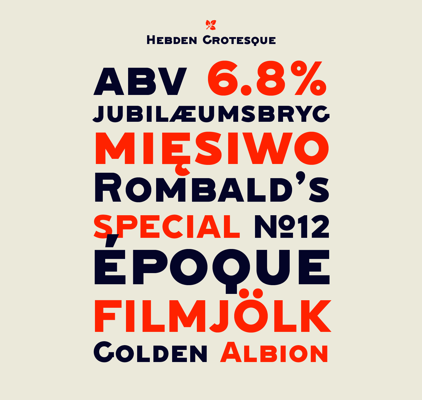 Hebden font family designed by Lewis McGuffie, now available from www.typeverything.com