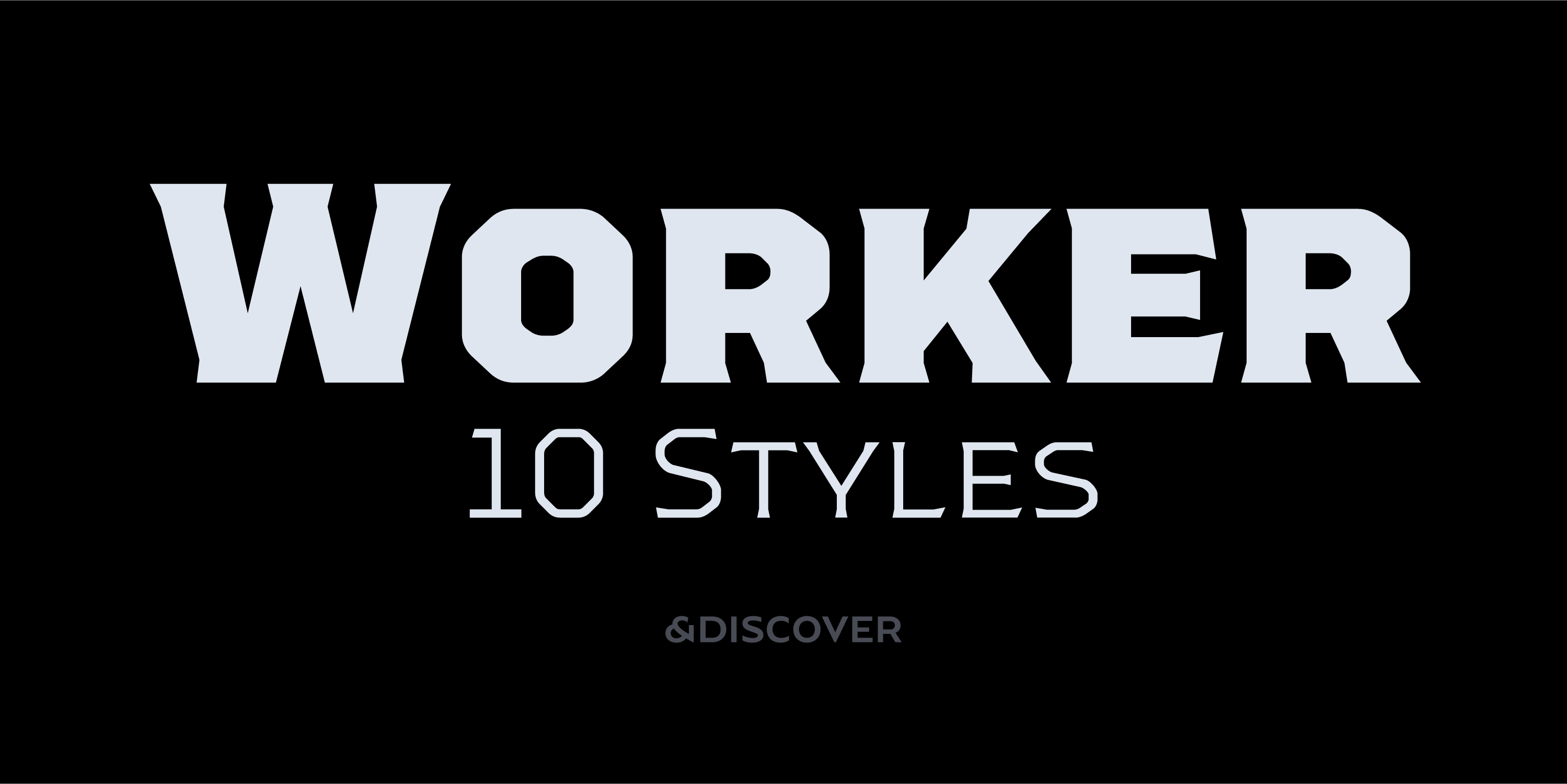 Worker typeface designed by Natanael Gama from Ndiscover type for Typeverything.com