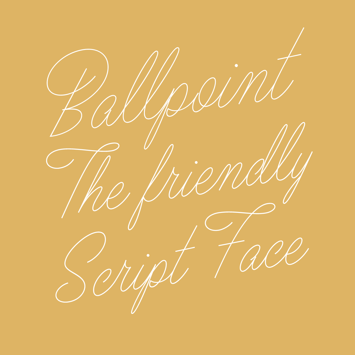 Ballpoint Script, a new typeface designed by Drew Melton for Typeverything.com