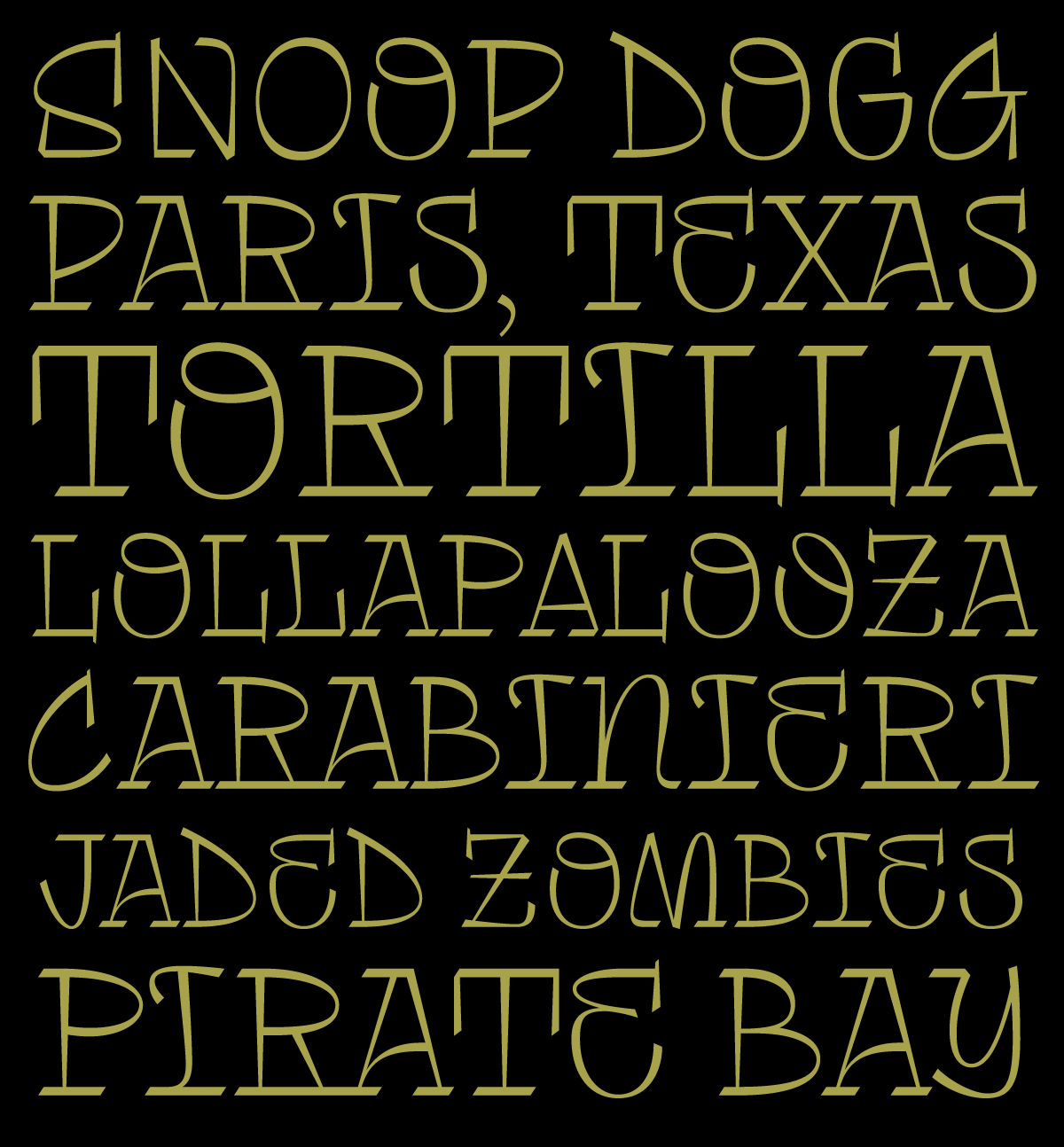 Tomasa, a new typeface designed by Fer Cozzi for Typeverything.com