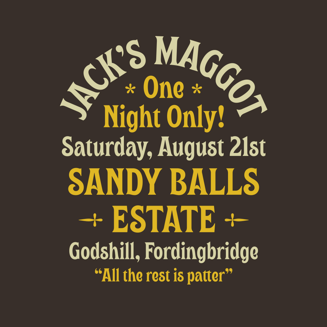 Jack's Maggot, a new display typeface designed by Simon Walker for Typeverything.com