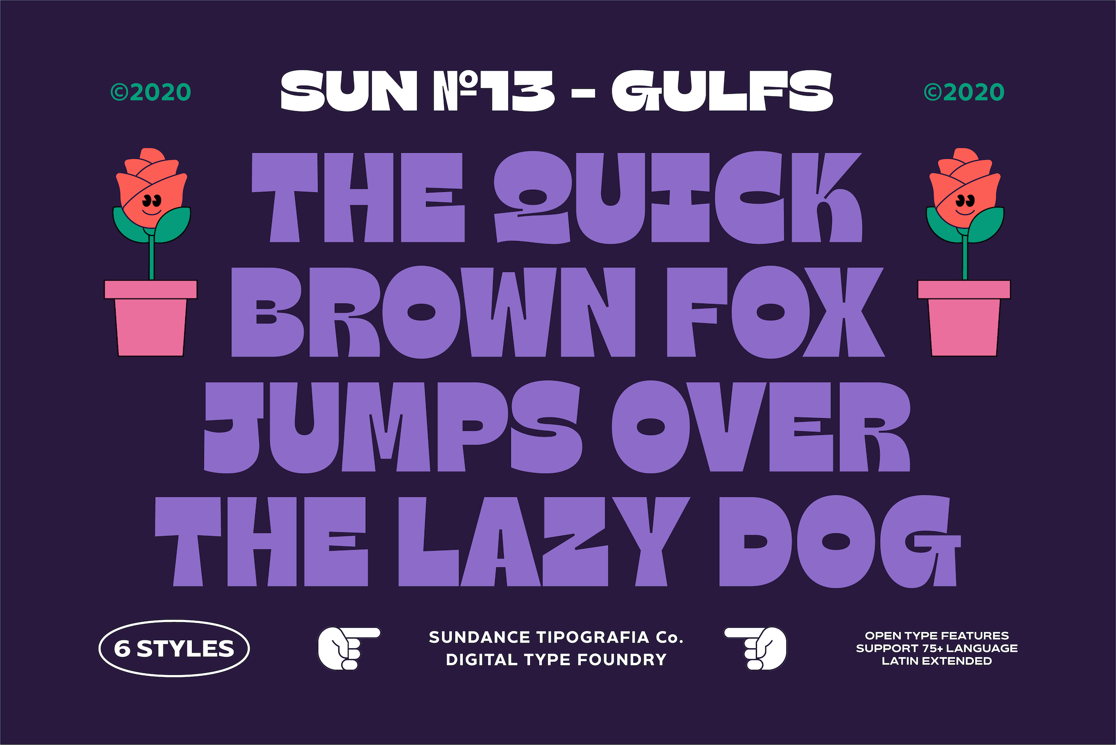 Gulfs is a new display typeface designed by Cahya Sofyan for Typeverything.com