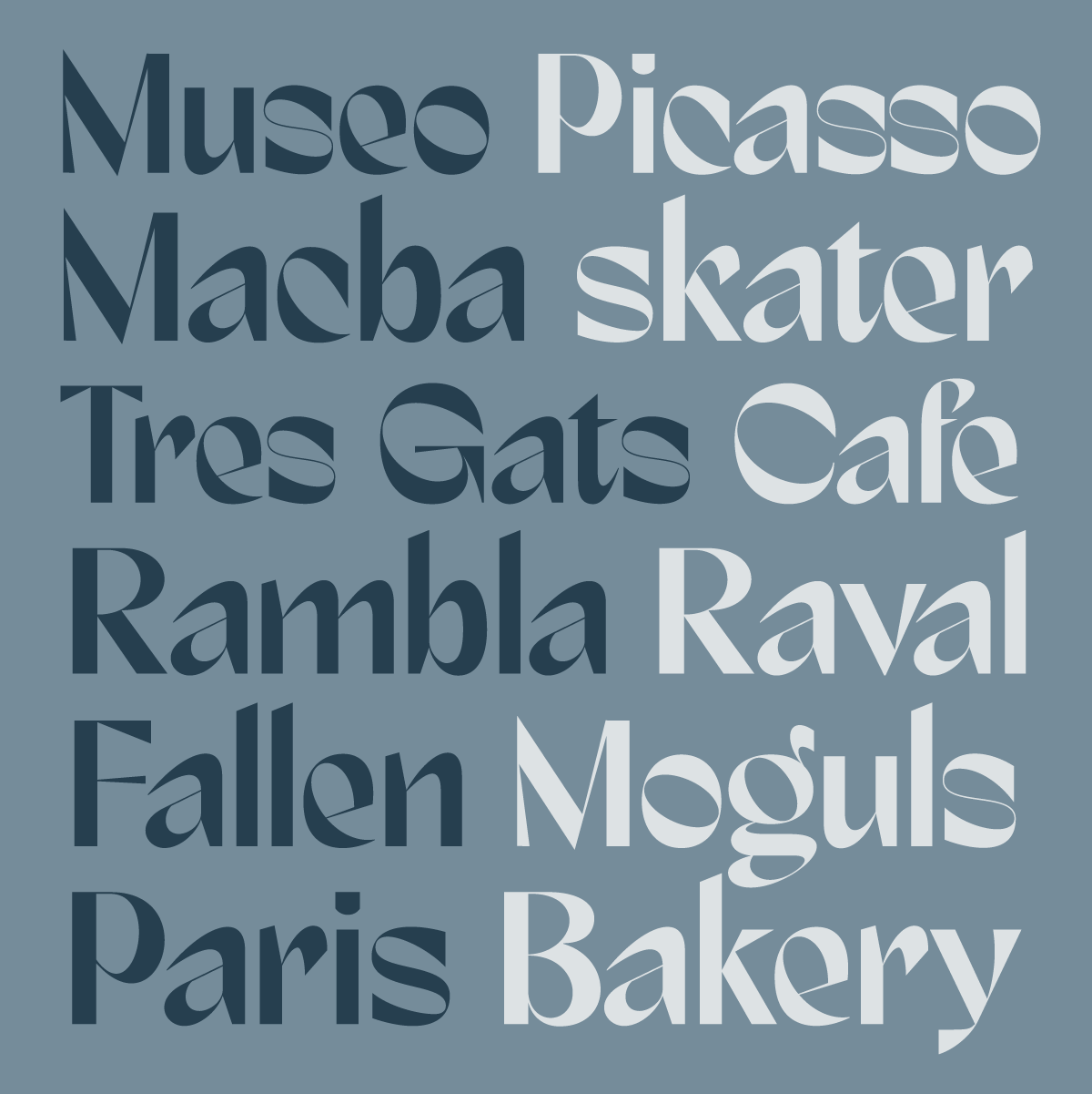 Marques, a brand new packaging typeface by Andrei Robu for www.typeverything.com