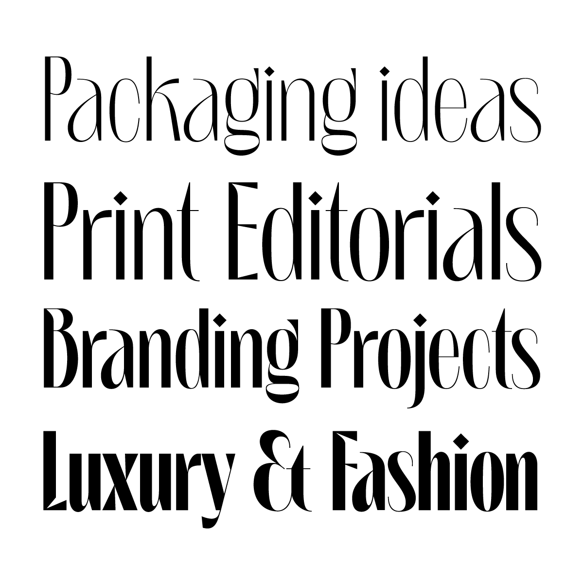 Loggia is a brand new packaging typeface by Andrei Robu for www.typeverything.com