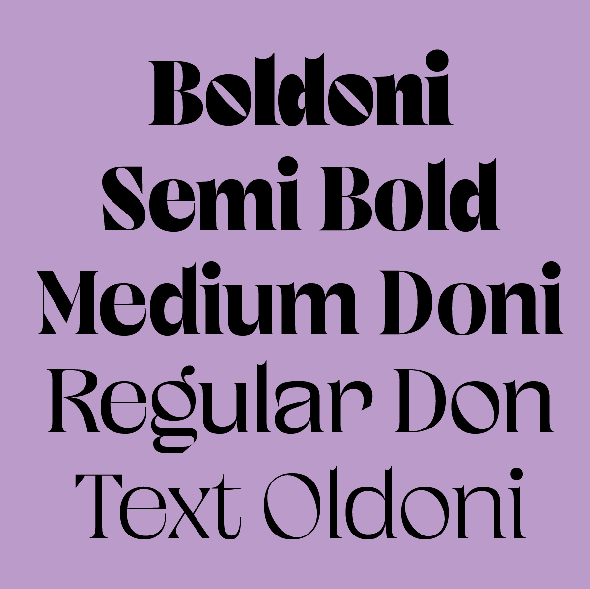 Boldoni is a new typeface designed by Andrei Robu for Typeverything.com