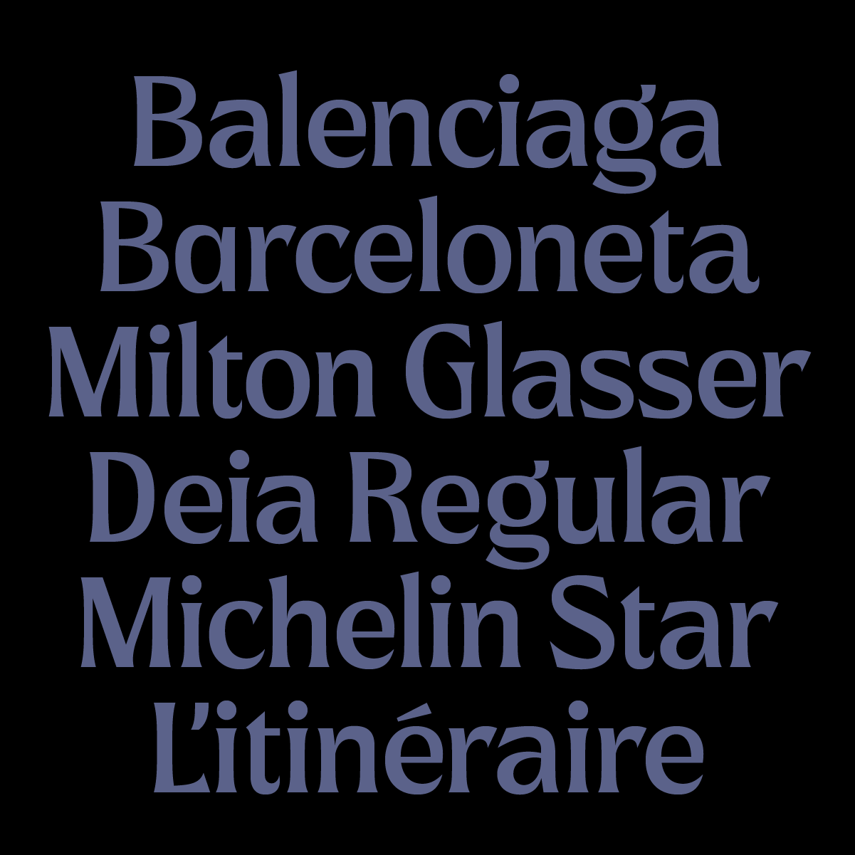 Deia, a new typeface by Andrei Robu for Typeverything.com